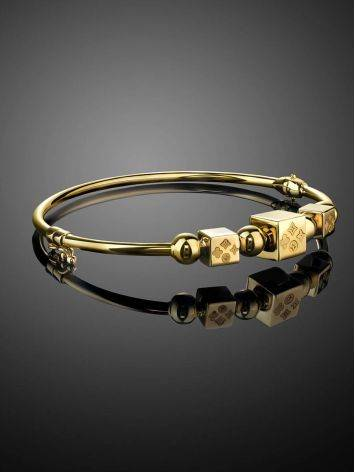Yellow Gold Bangle Bracelet, image , picture 2