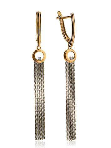 Golden Chain Dangles With Crystals, image