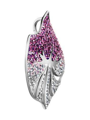 Silver Pendant With Two Toned Crystals The Jungle, image , picture 3