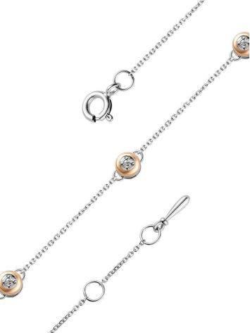 Silver Golden Diamond Bracelet The Diva, image , picture 3
