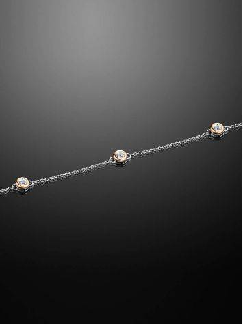 Silver Golden Diamond Bracelet The Diva, image , picture 2