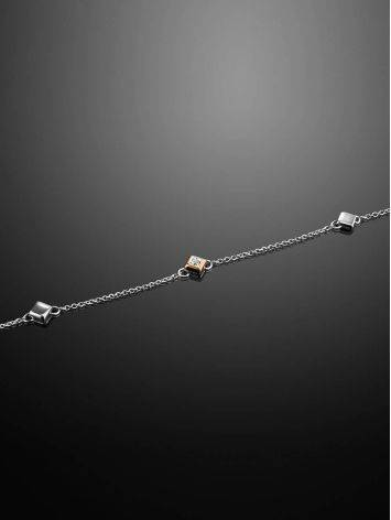 Silver Golden Bracelet With Diamond The Diva, image , picture 2