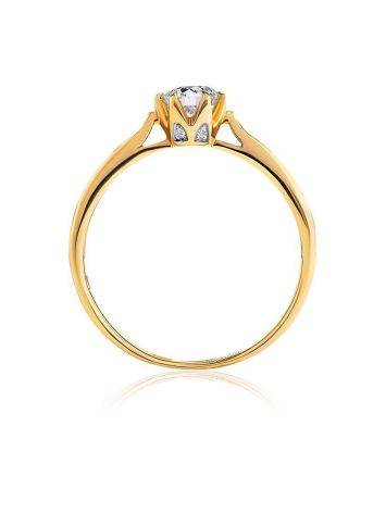 Vintage Style Golden Diamond Ring, Ring Size: 7 / 17.5, image , picture 3