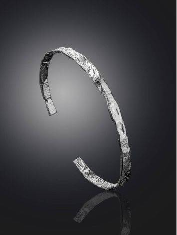 Hammered Silver Bangle Bracelet The Liquid, image , picture 2
