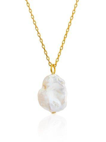 18ct Gold on Sterling Silver Pearl Pendant Necklace The Palazzo, image