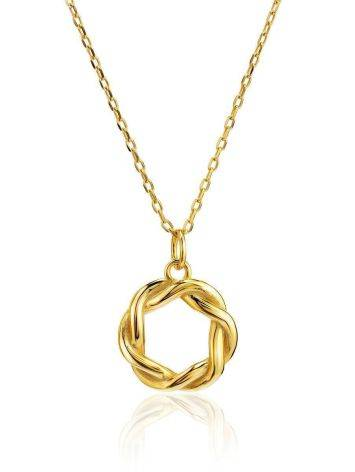 18ct Gold on Sterling Silver Open Twisted Pendant Necklace The Liquid, image