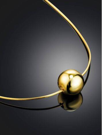 18ct Gold on Sterling Silver Orb Pendant Necklace The ICONIC, image , picture 2
