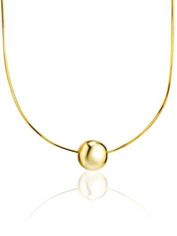 18ct Gold on Sterling Silver Orb Pendant Necklace The ICONIC, image