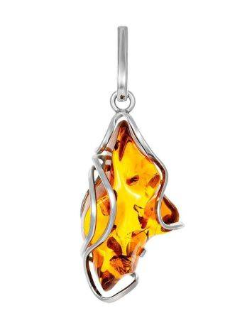 Bold Handcrafted Amber Silver Pendant The Rialto, image