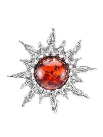 Cherry Amber Silver Pendant The Helios, image