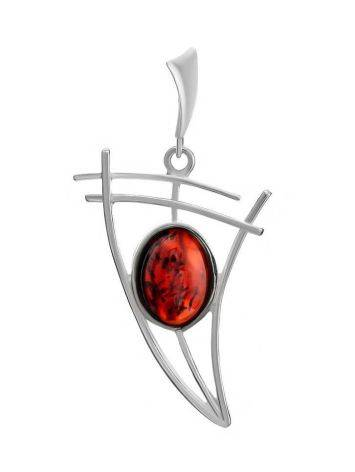 Cherry Amber Silver Pendant The Sail, image
