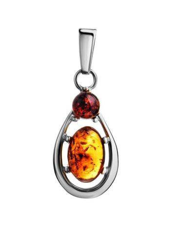 Sterling Silver Amber Pendant The Prussia, image