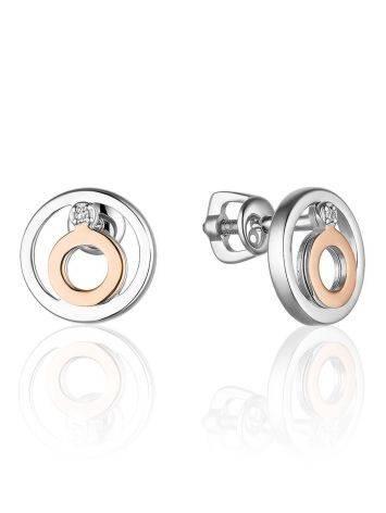 Silver Gold Diamond Earrings The Diva, image