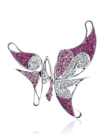 Silver Crystal Butterfly Pendant The Jungle, image