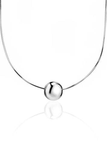 Silver Orb Pendant Necklace The ICONIC, image