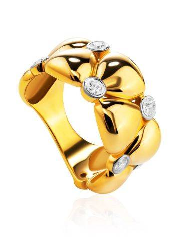 Bold Band Ring With Crystals, Ring Size: 6 / 16.5, image