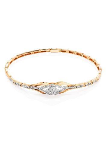 Fabulous Golden Bracelet With Diamonds, image