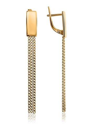 Classy Chain Dangles In Gold Plated Silver, image