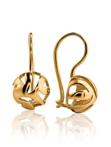 Stylish Gold Plated Silver Earrings, image