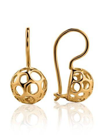 Chiselled Gold Plated Earrings, image