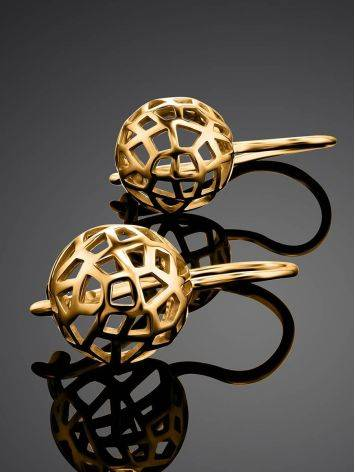 Laced Gold Plated Earrings, image , picture 2