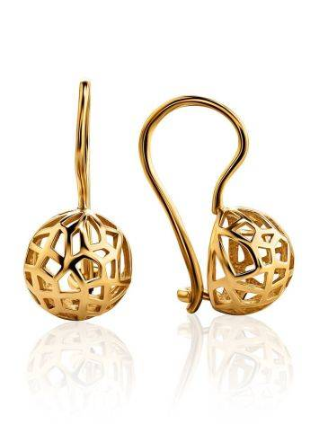 Laced Gold Plated Earrings, image