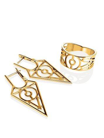 Amazing Geometric Band Ring, Ring Size: 6.5 / 17, image , picture 4