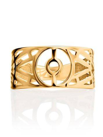 Amazing Geometric Band Ring, Ring Size: 6.5 / 17, image , picture 3