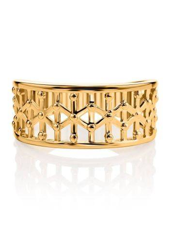 Laced Gold Plated Band Ring, Ring Size: 7 / 17.5, image , picture 3
