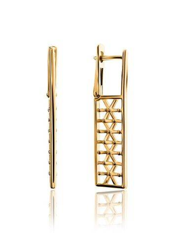 Geometric Gold Plated Earrings, image