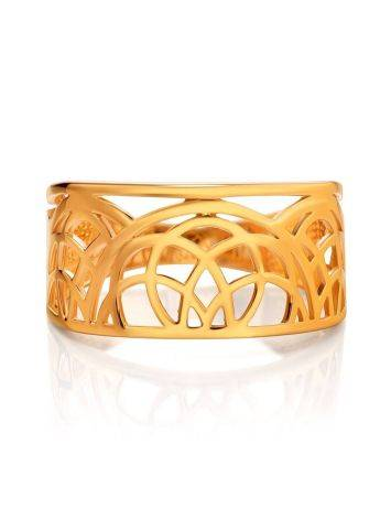 Laced Gold Plated Silver Band Ring, Ring Size: 7 / 17.5, image , picture 3