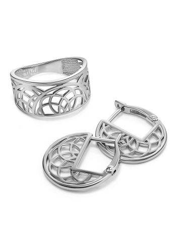 Fabulous Laced Silver Ring The Sacral, Ring Size: 6.5 / 17, image , picture 4
