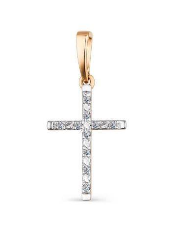 Golden Cross Pendant With Diamonds, image