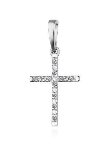White Gold Diamond Cross Pendant, image