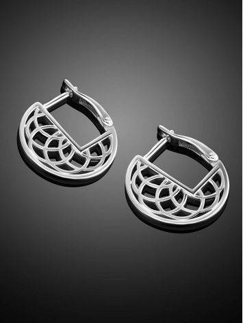 Boho Chic Style Silver Laced Earrings The Sacral, image , picture 2