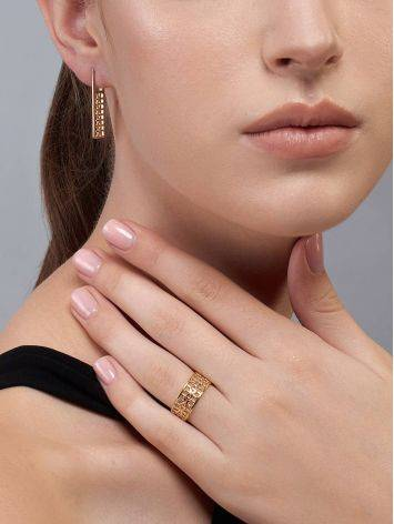 Laced Gold Plated Band Ring, Ring Size: 7 / 17.5, image , picture 5