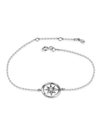 Stylish Chain Bracelet With Crystal The Enigma, Length: 17, image