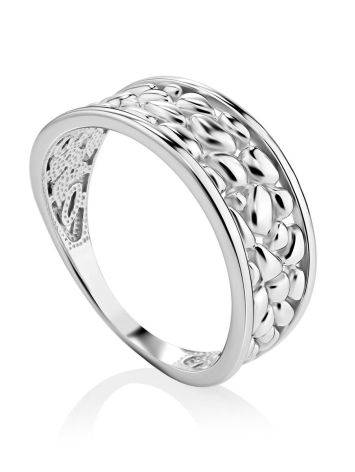 Silver Pebbled Band Ring The Sacral, Ring Size: 6.5 / 17, image