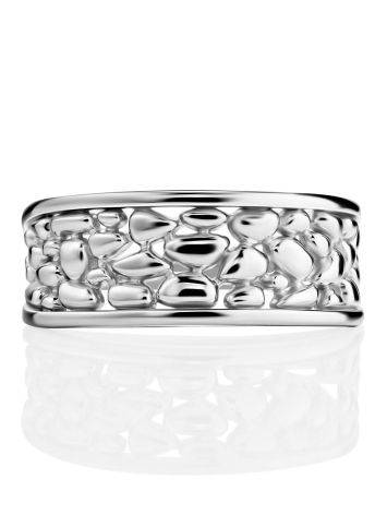 Silver Pebbled Band Ring The Sacral, Ring Size: 6.5 / 17, image , picture 3