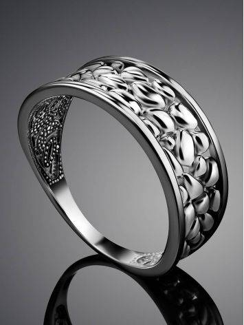 Silver Pebbled Band Ring The Sacral, Ring Size: 6.5 / 17, image , picture 2