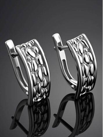 Silver Pebbled Earrings The Sacral, image , picture 2