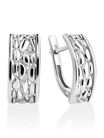 Silver Pebbled Earrings The Sacral, image