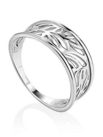 Silver Floral Band Ring The Sacral, Ring Size: 6.5 / 17, image