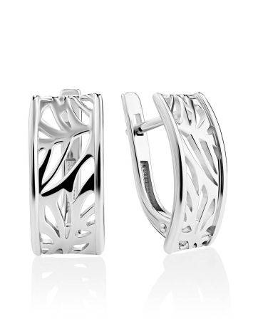 Silver Laser Cut Earrings The Sacral, image
