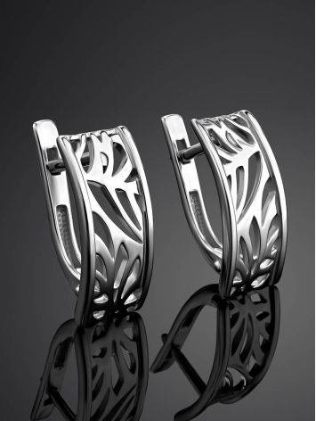 Silver Laser Cut Earrings The Sacral, image , picture 2