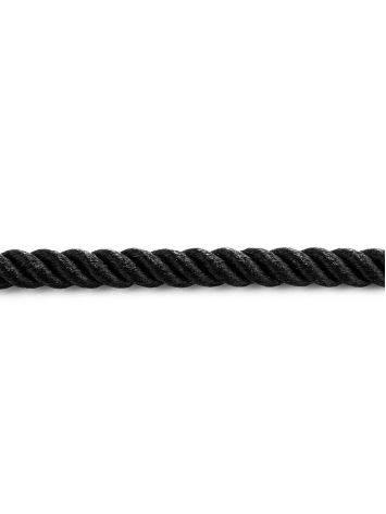 Black Textile Cord Necklace, Length: 45, image , picture 4