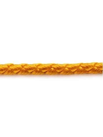 Gold Cord Necklace, Length: 40, image , picture 3