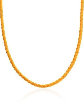 Gold Cord Necklace, Length: 40, image