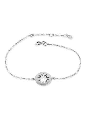 Silver Chain Bracelet With Cut Out Element The Enigma, image