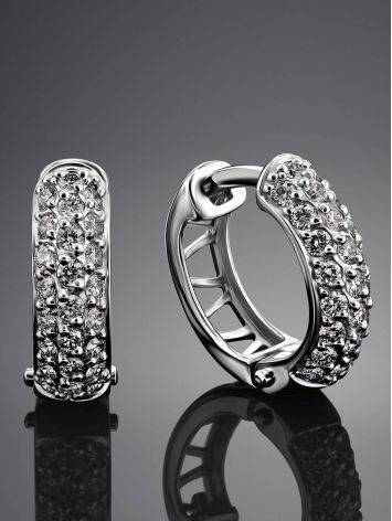 White Gold Diamond Earrings, image , picture 2